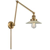 Innovations Lighting 238-BB-G2 Halophane 30 inch 60.00 watt Brushed Brass Swing Arm Wall Light Franklin Restoration