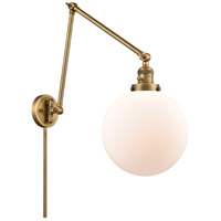 Innovations Lighting 238-BB-G201-10 Extra Large Beacon 32 inch 60.00 watt Brushed Brass Swing Arm Wall Light