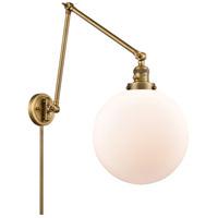 Innovations Lighting 238-BB-G201-12 XX-Large Beacon 34 inch 60.00 watt Brushed Brass Swing Arm Wall Light