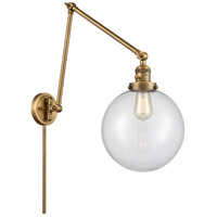 Innovations Lighting 238-BB-G202-10 Extra Large Beacon 32 inch 60.00 watt Brushed Brass Swing Arm Wall Light