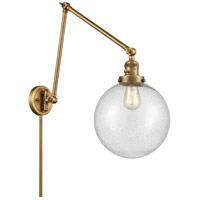 Innovations Lighting 238-BB-G204-10 Extra Large Beacon 32 inch 60.00 watt Brushed Brass Swing Arm Wall Light