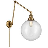 Innovations Lighting 238-BB-G204-12 XX-Large Beacon 34 inch 60.00 watt Brushed Brass Swing Arm Wall Light