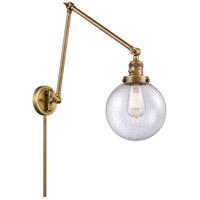 Innovations Lighting 238-BB-G204-8 Large Beacon 30 inch 60.00 watt Brushed Brass Swing Arm Wall Light Franklin Restoration