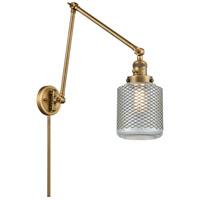 Innovations Lighting 238-BB-G262 Stanton 30 inch 60.00 watt Brushed Brass Swing Arm Wall Light Franklin Restoration
