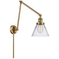 Innovations Lighting 238-BB-G42 Large Cone 30 inch 60.00 watt Brushed Brass Swing Arm Wall Light Franklin Restoration