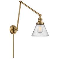 Innovations Lighting 238-BB-G44 Large Cone 30 inch 60.00 watt Brushed Brass Swing Arm Wall Light Franklin Restoration
