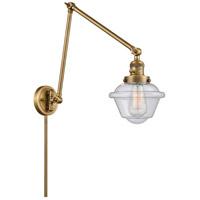 Innovations Lighting 238-BB-G534 Small Oxford 30 inch 60.00 watt Brushed Brass Swing Arm Wall Light, Franklin Restoration
