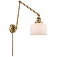Innovations Lighting 238-BB-G71 Large Bell 30 inch 60.00 watt Brushed Brass Swing Arm Wall Light Franklin Restoration