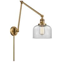 Innovations Lighting 238-BB-G72 Large Bell 30 inch 60.00 watt Brushed Brass Swing Arm Wall Light Franklin Restoration
