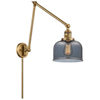 Innovations Lighting 238-BB-G73 Large Bell 30 inch 60.00 watt Brushed Brass Swing Arm Wall Light, Franklin Restoration