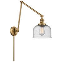 Innovations Lighting 238-BB-G74 Large Bell 30 inch 60.00 watt Brushed Brass Swing Arm Wall Light, Franklin Restoration