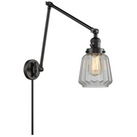 Innovations Lighting 238-BK-G142 Chatham 30 inch 60.00 watt Matte Black Swing Arm Wall Light Franklin Restoration