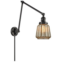Innovations Lighting 238-BK-G146 Chatham 30 inch 60.00 watt Matte Black Swing Arm Wall Light Franklin Restoration