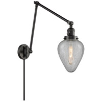 Innovations Lighting 238-BK-G165 Geneseo 30 inch 60.00 watt Matte Black Swing Arm Wall Light Franklin Restoration