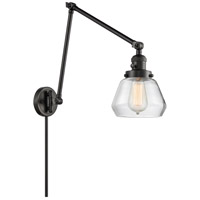 Innovations Lighting 238-BK-G172 Fulton 30 inch 60 watt Matte Black Swing Arm Wall Light Franklin Restoration