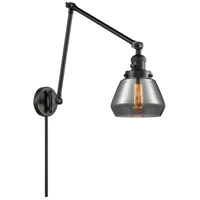 Innovations Lighting 238-BK-G173 Fulton 30 inch 60 watt Matte Black Swing Arm Wall Light Franklin Restoration