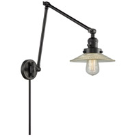 Innovations Lighting 238-BK-G2 Halophane 30 inch 60.00 watt Matte Black Swing Arm Wall Light Franklin Restoration