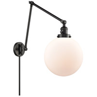 Innovations Lighting 238-BK-G201-10 Extra Large Beacon 32 inch 60.00 watt Matte Black Swing Arm Wall Light