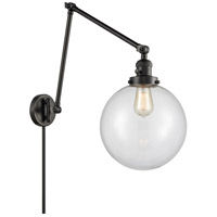 Innovations Lighting 238-BK-G202-10 Extra Large Beacon 32 inch 60.00 watt Matte Black Swing Arm Wall Light
