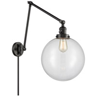 Innovations Lighting 238-BK-G202-12 XX-Large Beacon 34 inch 60.00 watt Matte Black Swing Arm Wall Light