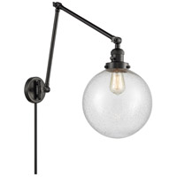 Innovations Lighting 238-BK-G204-10 Extra Large Beacon 32 inch 60.00 watt Matte Black Swing Arm Wall Light