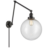 Innovations Lighting 238-BK-G204-12 XX-Large Beacon 34 inch 60.00 watt Matte Black Swing Arm Wall Light