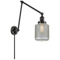Innovations Lighting 238-BK-G262 Stanton 30 inch 60 watt Matte Black Swing Arm Wall Light Franklin Restoration