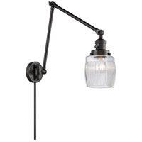 Innovations Lighting 238-BK-G302 Colton 30 inch 60.00 watt Matte Black Swing Arm Wall Light Franklin Restoration