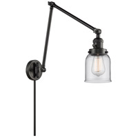 Innovations Lighting 238-BK-G52 Small Bell 30 inch 60 watt Matte Black Swing Arm Wall Light Franklin Restoration