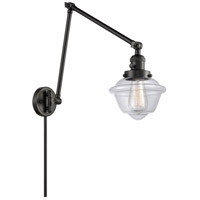 Innovations Lighting 238-BK-G532 Small Oxford 30 inch 60 watt Matte Black Swing Arm Wall Light Franklin Restoration