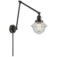 Innovations Lighting 238-BK-G534 Small Oxford 30 inch 60 watt Matte Black Swing Arm Wall Light Franklin Restoration