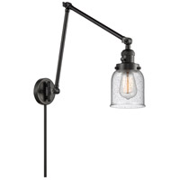 Innovations Lighting 238-BK-G54 Small Bell 30 inch 60.00 watt Matte Black Swing Arm Wall Light Franklin Restoration