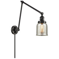 Innovations Lighting 238-BK-G58 Small Bell 30 inch 60 watt Matte Black Swing Arm Wall Light Franklin Restoration