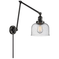 Innovations Lighting 238-BK-G74 Large Bell 30 inch 60.00 watt Matte Black Swing Arm Wall Light Franklin Restoration