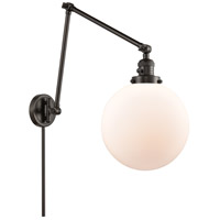 Innovations Lighting 238-OB-G201-10 Extra Large Beacon 32 inch 60.00 watt Oil Rubbed Bronze Swing Arm Wall Light