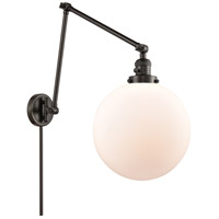Innovations Lighting 238-OB-G201-12 XX-Large Beacon 34 inch 60.00 watt Oil Rubbed Bronze Swing Arm Wall Light