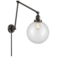 Innovations Lighting 238-OB-G202-10 Extra Large Beacon 32 inch 60.00 watt Oil Rubbed Bronze Swing Arm Wall Light