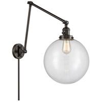 Innovations Lighting 238-OB-G202-12 XX-Large Beacon 34 inch 60.00 watt Oil Rubbed Bronze Swing Arm Wall Light