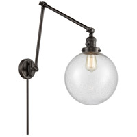 Innovations Lighting 238-OB-G204-10 Extra Large Beacon 32 inch 60.00 watt Oil Rubbed Bronze Swing Arm Wall Light