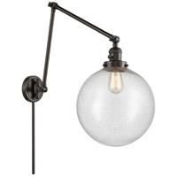 Innovations Lighting 238-OB-G204-12 XX-Large Beacon 34 inch 60.00 watt Oil Rubbed Bronze Swing Arm Wall Light