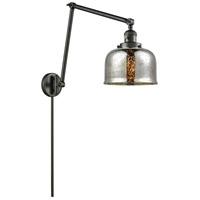 Innovations Lighting 238-OB-G78 Large Bell 30 inch 60.00 watt Oil Rubbed Bronze Swing Arm Wall Light, Franklin Restoration