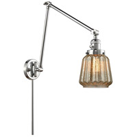 Innovations Lighting 238-PC-G146 Chatham 30 inch 60.00 watt Polished Chrome Swing Arm Wall Light, Franklin Restoration