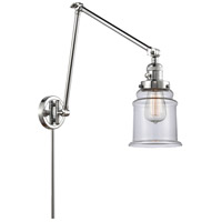 Innovations Lighting 238-PC-G182 Canton 30 inch 60.00 watt Polished Chrome Swing Arm Wall Light, Franklin Restoration