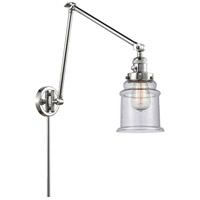 Innovations Lighting 238-PC-G184 Canton 30 inch 60.00 watt Polished Chrome Swing Arm Wall Light, Franklin Restoration