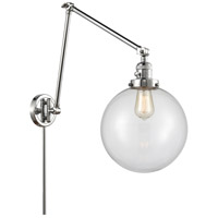 Innovations Lighting 238-PC-G202-10 Extra Large Beacon 32 inch 60.00 watt Polished Chrome Swing Arm Wall Light