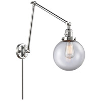 Innovations Lighting 238-PC-G202-8 Large Beacon 30 inch 60.00 watt Polished Chrome Swing Arm Wall Light, Franklin Restoration