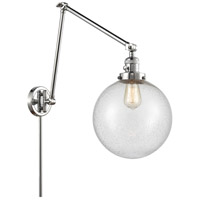 Innovations Lighting 238-PC-G204-10 Extra Large Beacon 32 inch 60.00 watt Polished Chrome Swing Arm Wall Light