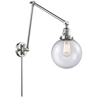 Innovations Lighting 238-PC-G204-8 Large Beacon 30 inch 60.00 watt Polished Chrome Swing Arm Wall Light, Franklin Restoration photo thumbnail