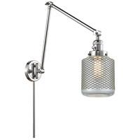 Innovations Lighting 238-PC-G262 Stanton 30 inch 60.00 watt Polished Chrome Swing Arm Wall Light Franklin Restoration