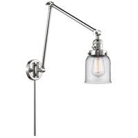 Innovations Lighting 238-PC-G52 Small Bell 30 inch 60.00 watt Polished Chrome Swing Arm Wall Light Franklin Restoration